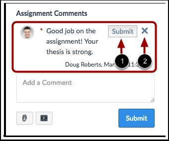 Visualizar Rascunho de Comentário