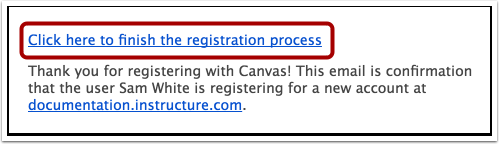 Completar o Processo de Registro