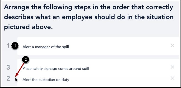 Réorganiser les réponses