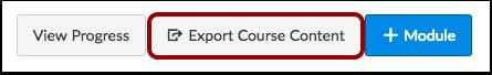 Export Course Content