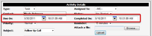 Task Dates