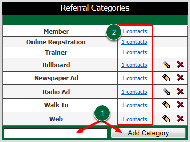Referral Categories