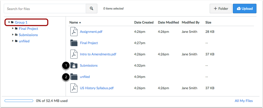 View Group Files Folder