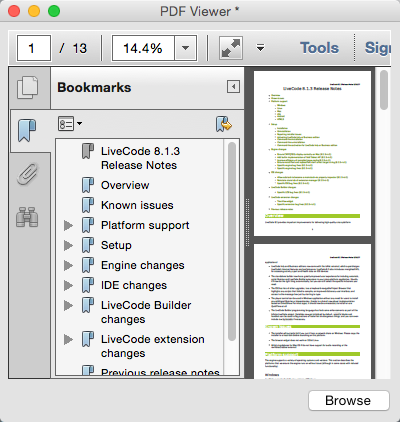 Displaying the PDF