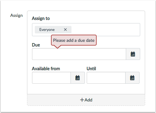 View Assignment Errors