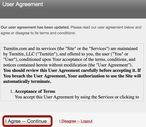 User Agreement.