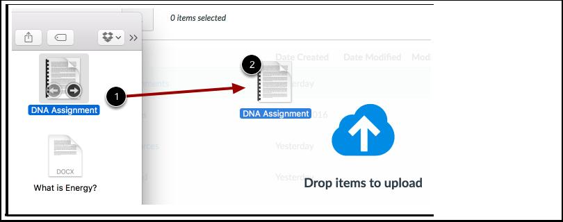 Enviar Arquivos por Arrastar e Soltar