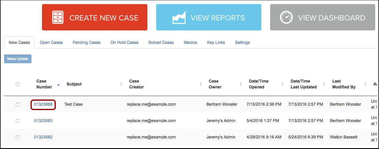 Open Case