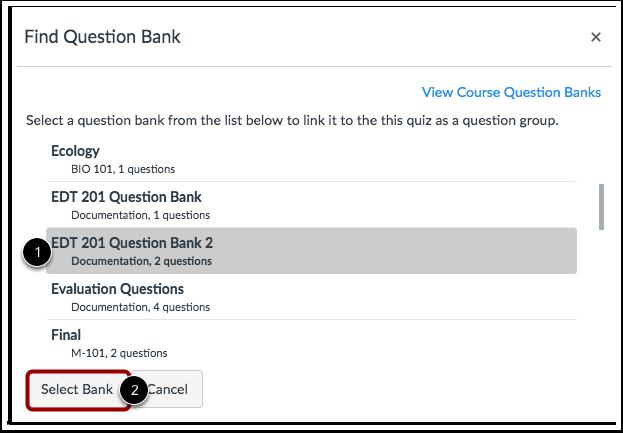 Localizar Banco de Perguntas