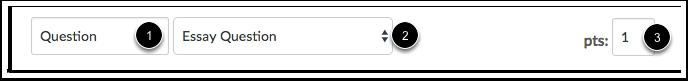 Configurar Nome, Tipo e Pontos