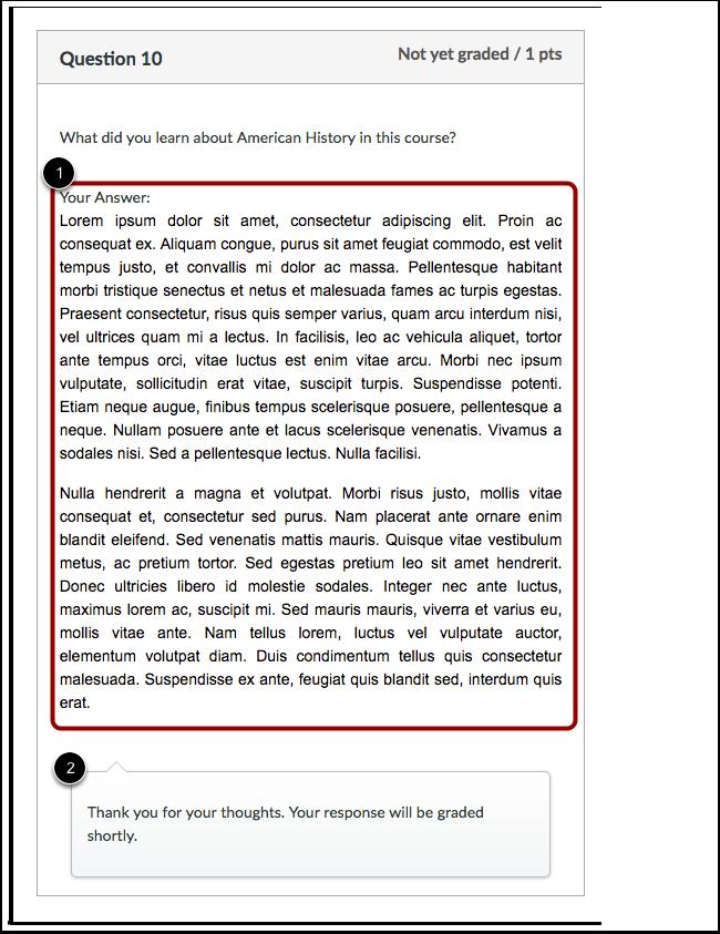 Visualização de Estudante para Comentários de Dissertativa