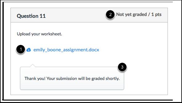 Visualização do Estudante da Realização de Envio de Arquivo