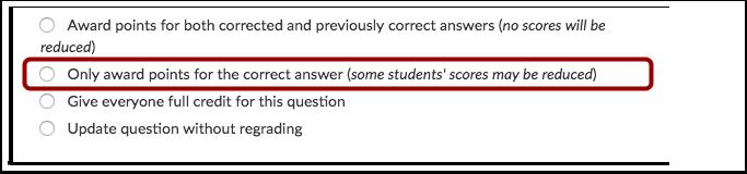 Conceder Pontos por Resposta Correta