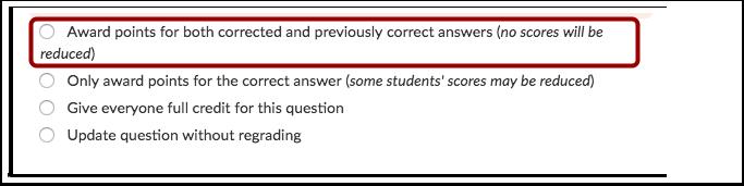 Conceder Pontos pelas Duas Respostas