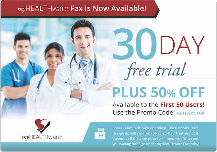 myHEALTHware Fax is Now Available!
