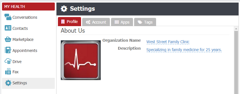 - Organization Settings