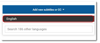 Select English.
