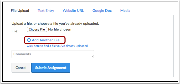 Adicionar Outro Arquivo
