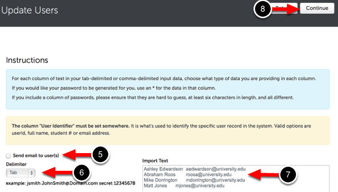 Step 3: Enter User Information