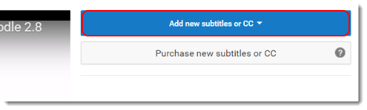 Click on Add new subtitles or CC.