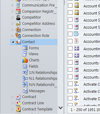 Select the arrow next to the Entity you wish to Customize and then click Fields