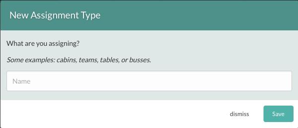 Create an Assignment Type