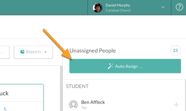 Auto Assigning Attendees to Areas