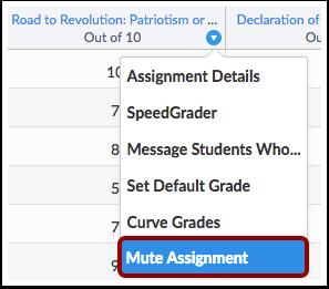 Mute Assignment