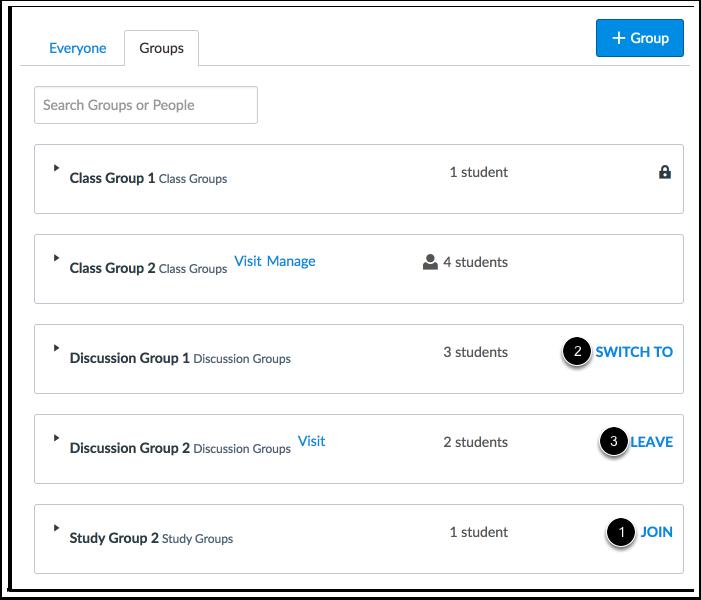 Visualizar Grupos do Curso