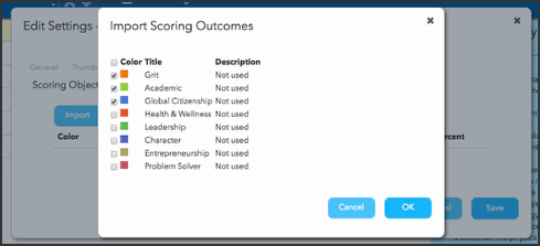 Multi-Outcome Scoring tab