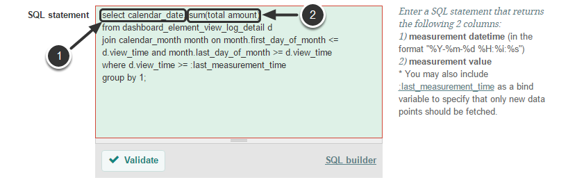 sql statement requirements