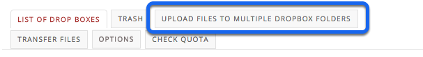 "Select ""Upload files to multiple dropbox folders""."
