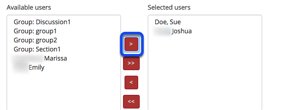 Select the destination folders for your file.