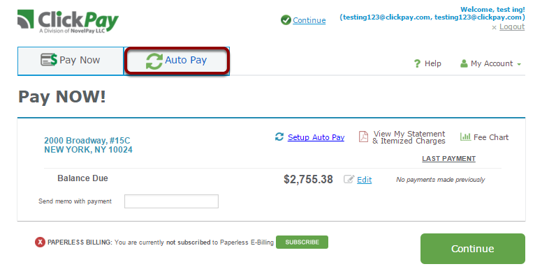 Step 1: Select Auto Pay