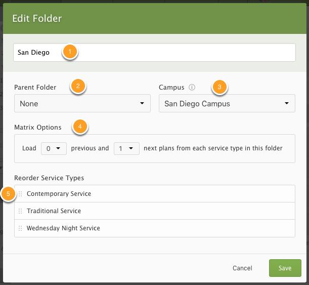 Edit Folder Popup