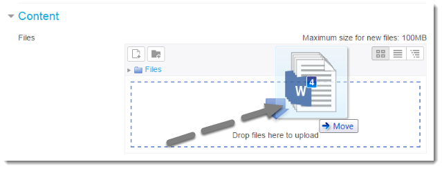 Drag a file to upload.