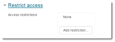 Restrict access settings section