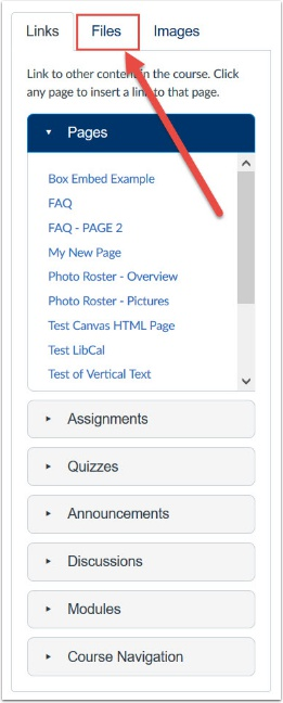 Click files tab