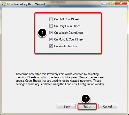 Selecting Countsheets