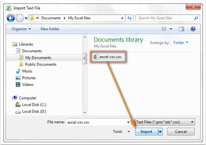 Import Text File