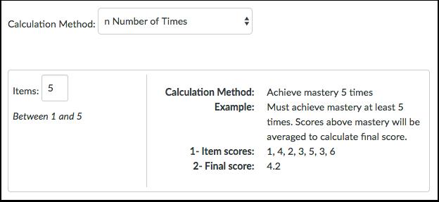 n Number of Times