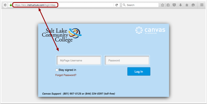Acceder a Canvas por medio de la URL de Canvas