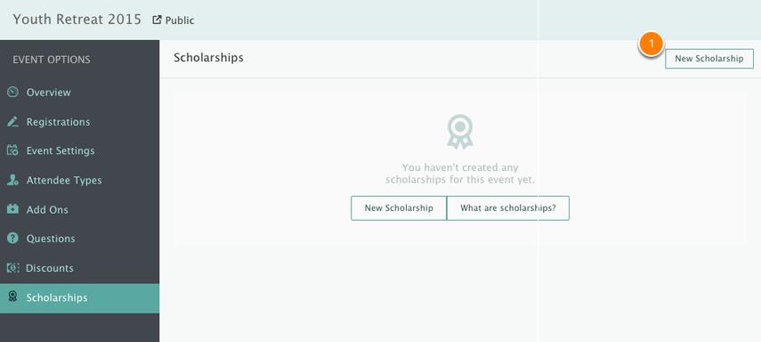 Adding a New Scholarship