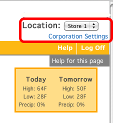 "The TimeForge ""Location Level"" for businesses with multiple locations."