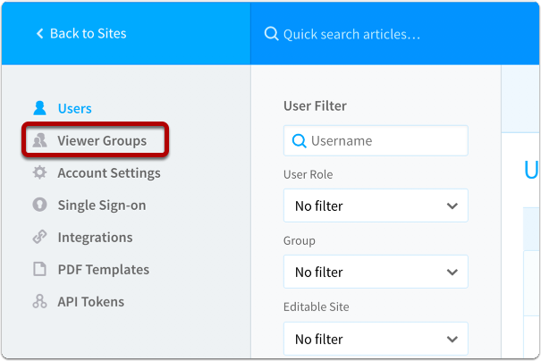 Click Create Viewer Group