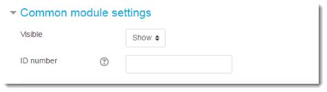 Common module settings options
