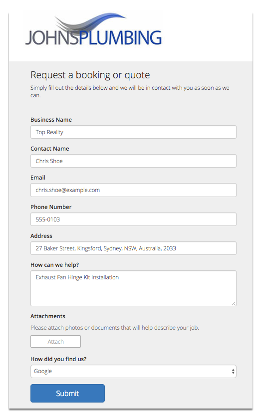 How to setup an online booking form that sends jobs to your ...