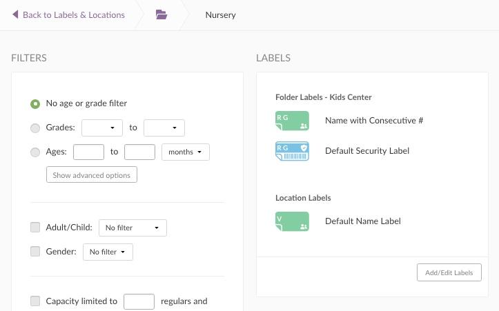Adding/ Editing Labels