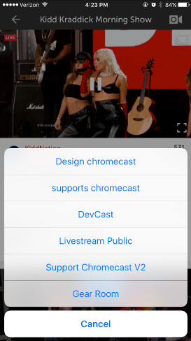 Watch Livestream Events using Chromecast – Livestream