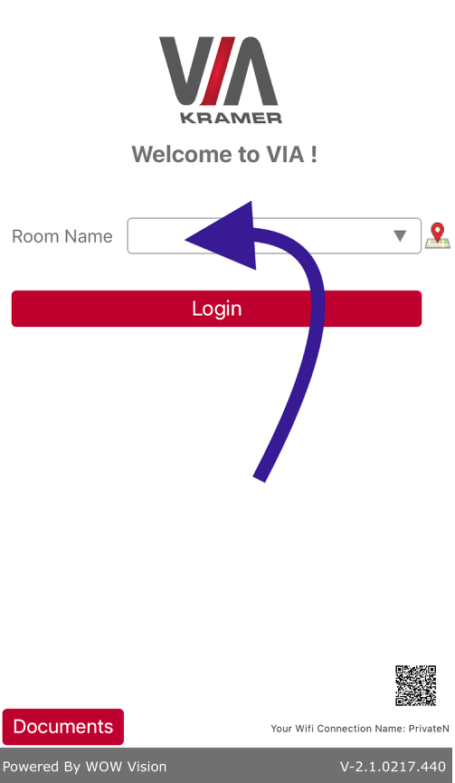 Type the Room Name
